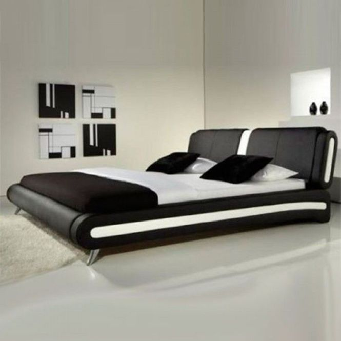Naples Modern Black And White Leather Bed Luxury Beds Co