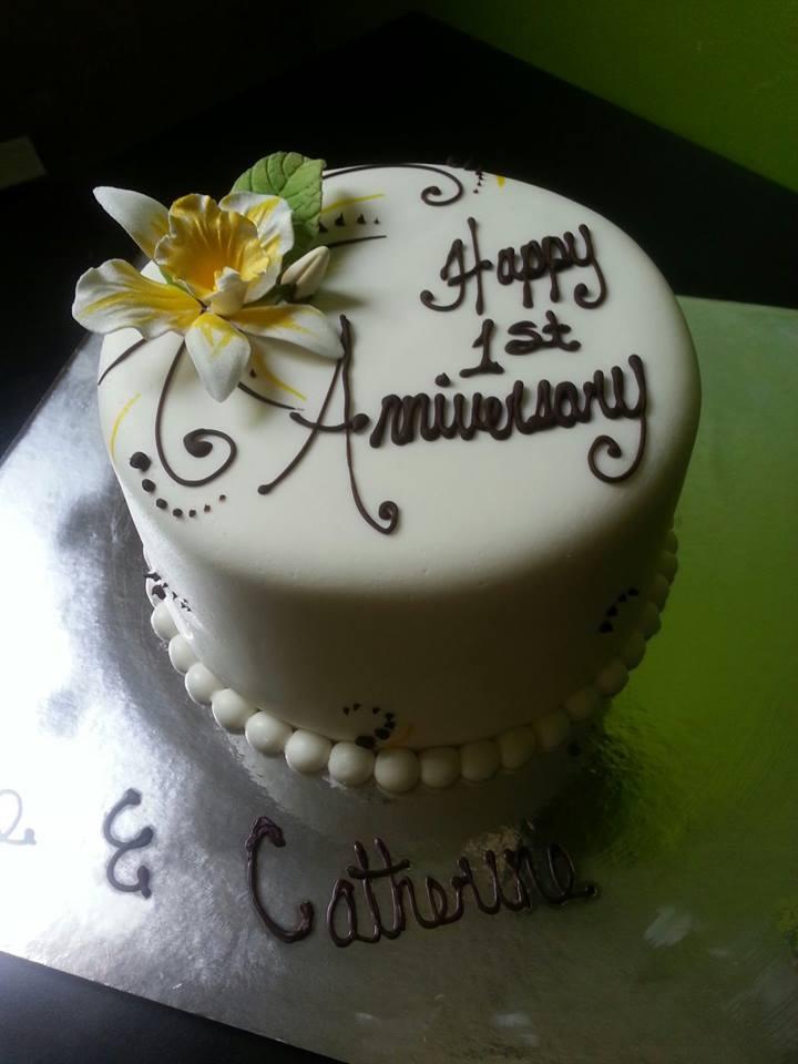 1st Anniversary Cake Anniversary Cakes Pinterest