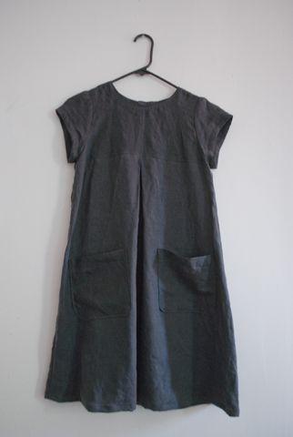 """Download pattern from """"Burda Style""""  cute smock dress in linen"""