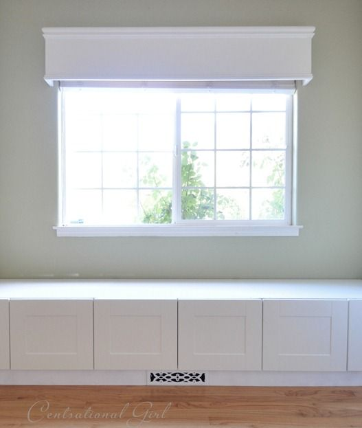 Window Seat Built From Ikea Refrigerator Cabinets Complete With How To Build Around A Floor