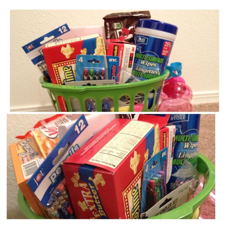 Cute high school graduation gift basket less than 20