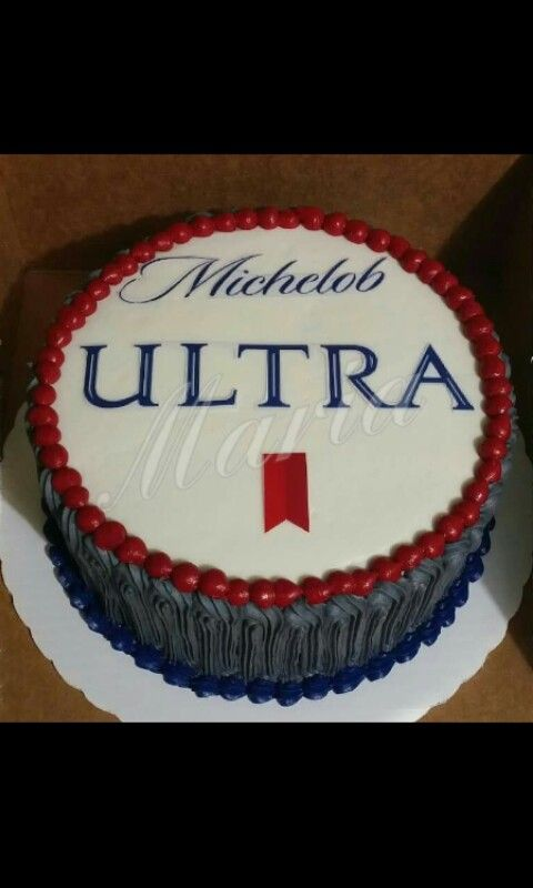 Beer Cake Michelob Ultra Cake Beer Pinterest