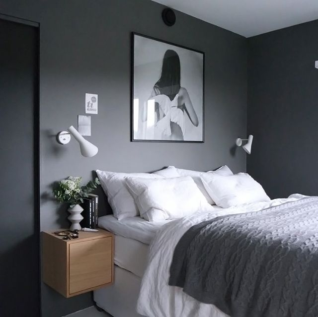 Love This Grey And White Bedroom By