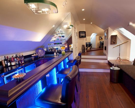 Magnificent Contemporary Home Bar Awesome Home Bar