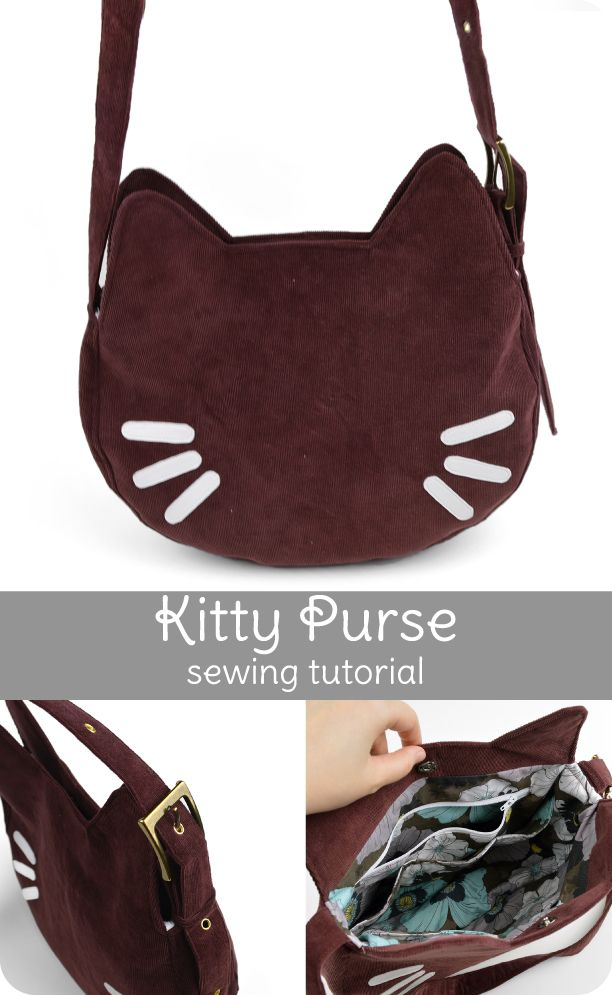 This project came about because I realized I needed a purse that was a little more suitable for professional occasions, so I thought I would try making up a cute pattern that was also a little