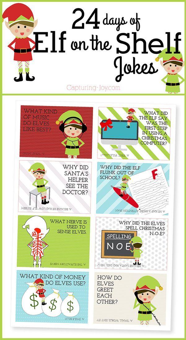 24 Days of Elf on the Shelf Jokes Shelf ideas, Shelves