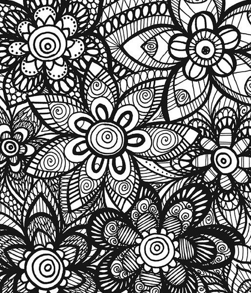 1000 ideas about flower coloring pages on pinterest colouring