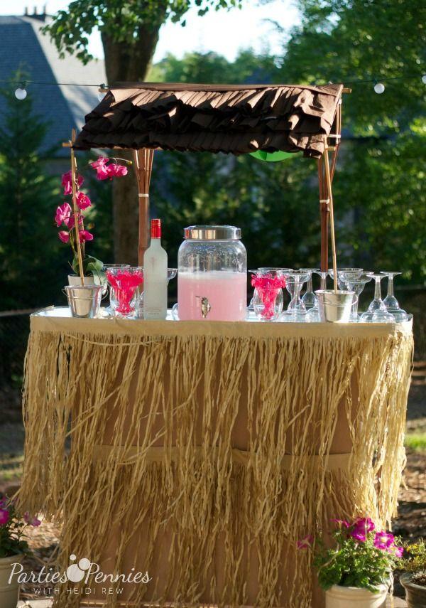 Luau Party By DIY Tiki Hut Luau
