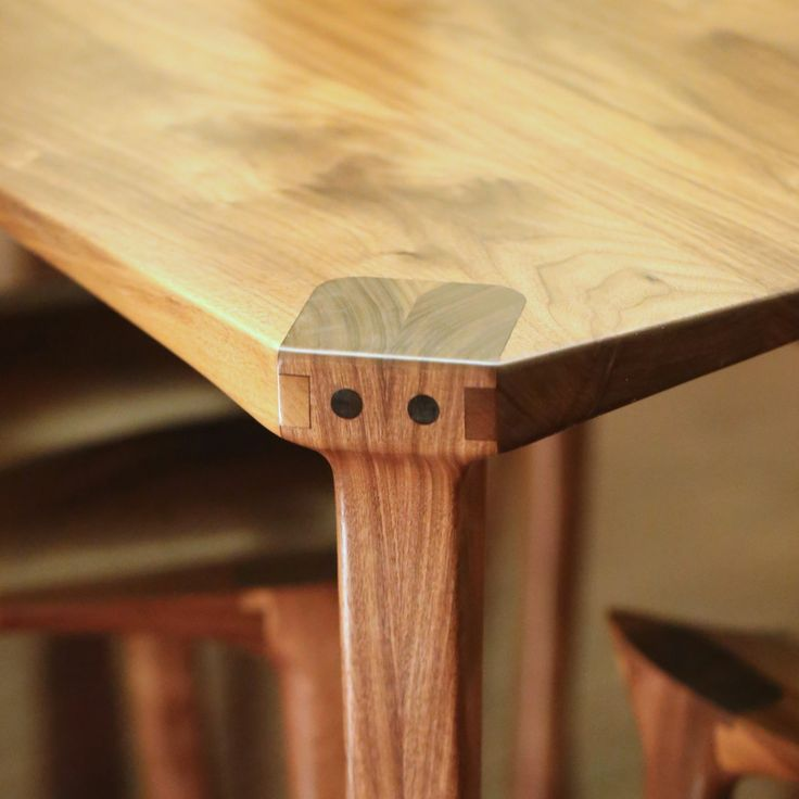 Bespoke Walnut Dining Table Amp Chairs Custom Wooden Rocking Chairs Dining Chairs Bar Stools