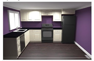 Purple Kitchen Paint Color For Downstairs