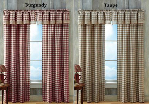 Buffalo Check Primitive Country Curtain Panel Taupe 42 X 84 By Collections Etc By Collections