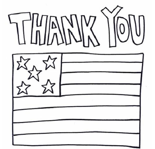thank you military coloring pages kids preschool pinterest