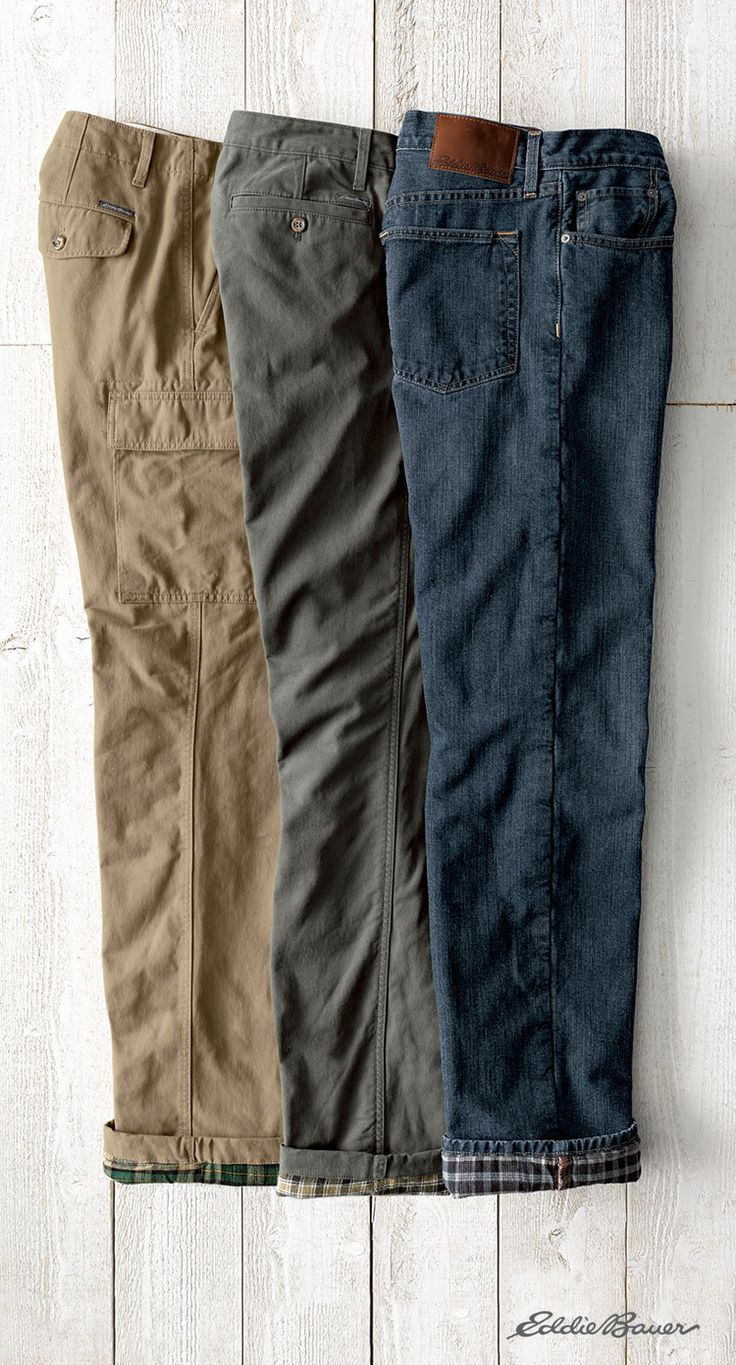 The ultimate pants for cold weather. Flannel lined jeans