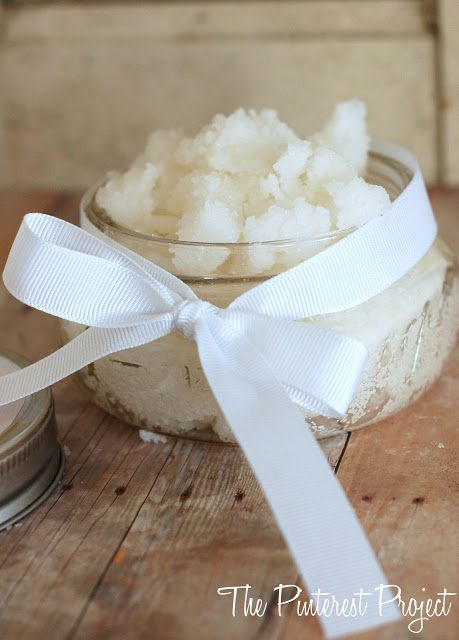 Coconut Sugar Scrub: Only TWO Ingrediants, Great For A Holiday Gift Idea!/ reminds me of secret of the island scrubs from Florida