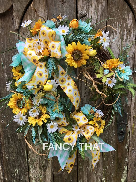 17 Best Images About Wreaths Sunflowers On Pinterest