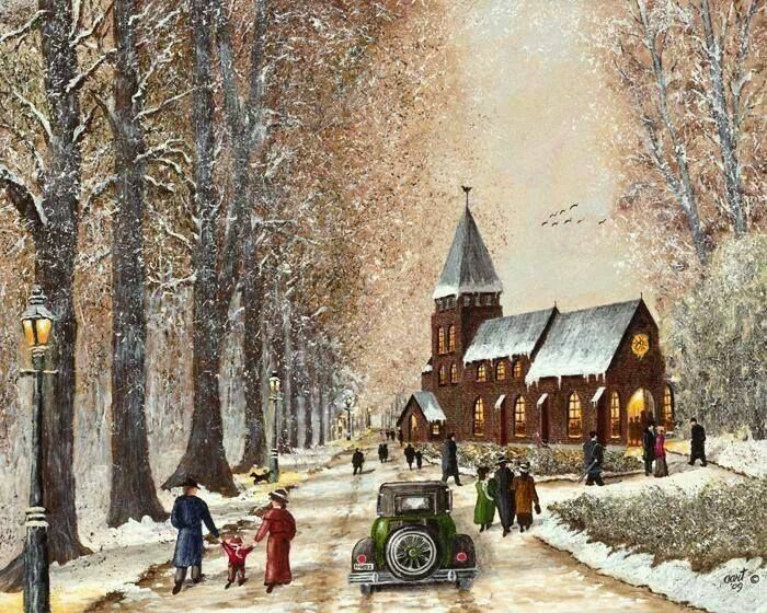409 Best Images About Christmas Churches On Pinterest