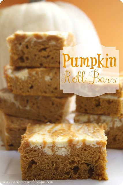 Pumpkin Roll Bars : The Recipe Critic.  These taste exactly like a pumpkin roll but without all of the hard work!  Easy and