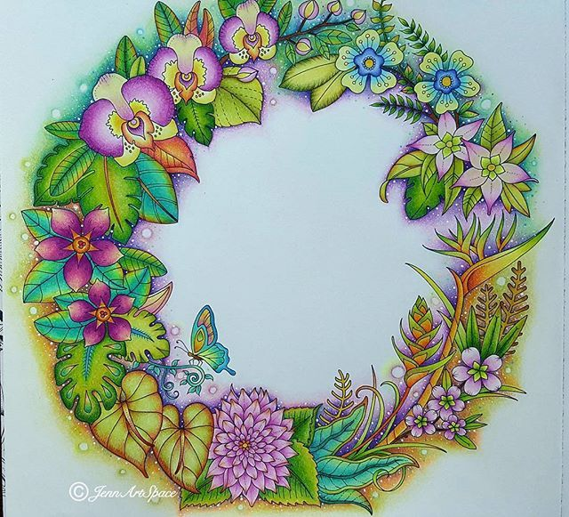 1000 Images About Magical Jungle Coloring On Pinterest
