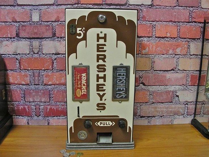 Rare Antique 5 Cent Porcelain Shipman Hershey Candy Bar