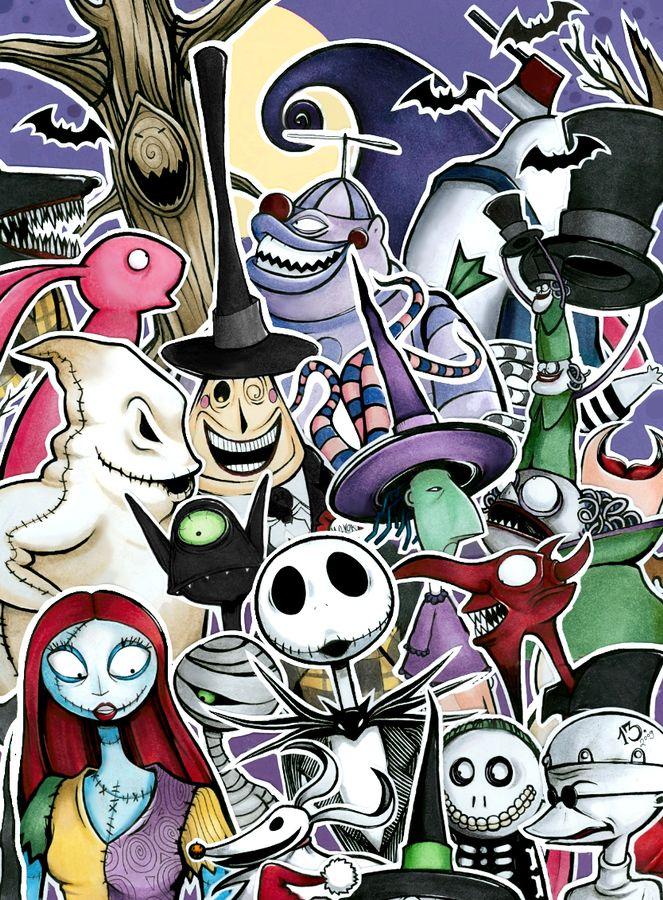 nightmare before christmas characters Disney Pinterest