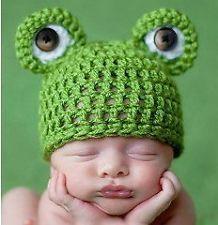 Baby Kleinkind Frosch Hkeln Strick Mtze Beanie Kostm Fotografie Foto-shooting