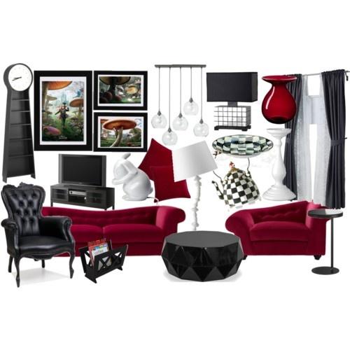 Living Room Decor Inspired By Tim Burton S Alice