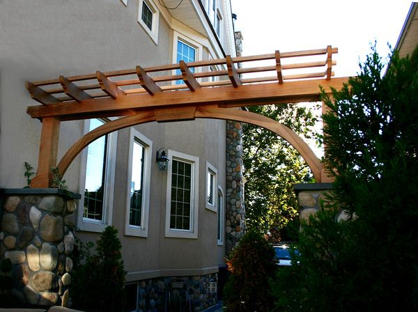 Driveway Pergola By Trellis Structures This In Solid