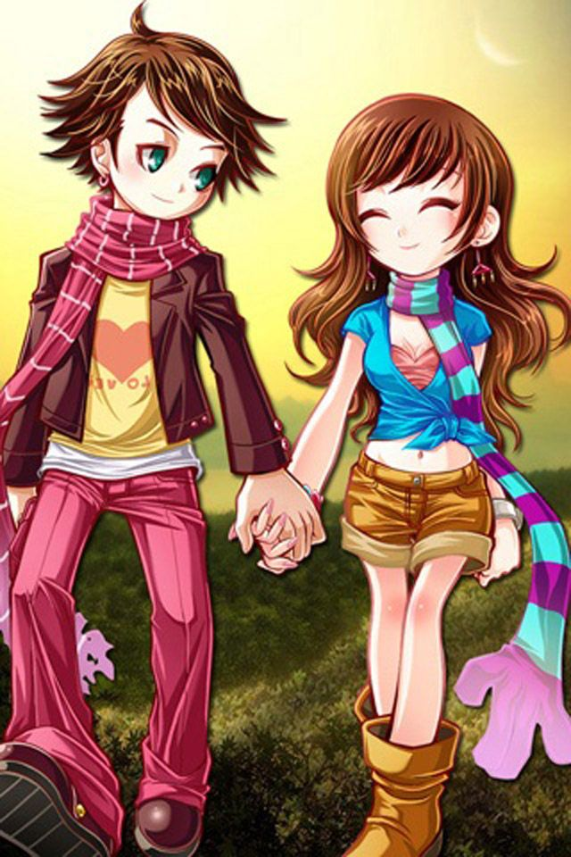cute couple cartoons wallpapers Cartoons Pinterest
