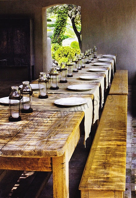 Another nice table setting for a beautiful farm to table