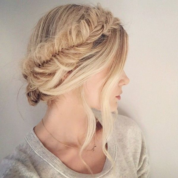 Fishtail french braid crown!