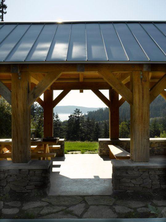 Post And Beam Picnic Pavilion Bosworth Hoedemaker