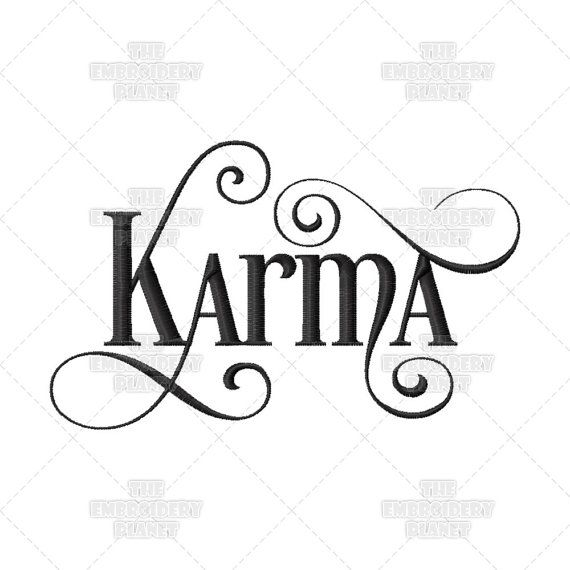 Karma Calligraphy Script Buddhist Quote Lessons Learned