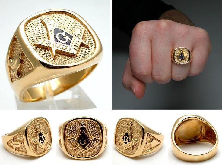 Gold Masonic Rings Masonic Rings Pinterest Vintage
