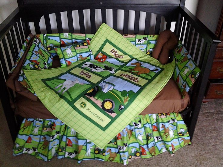New Custom Made John Deere Baby Crib Bedding Set With