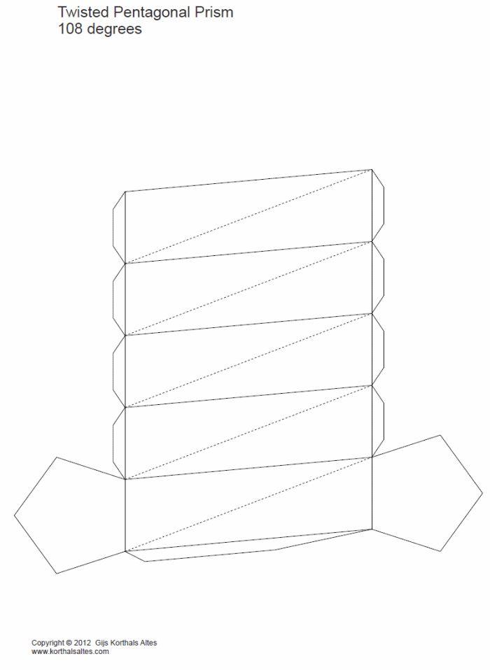 Hexagonal Pyramid Cut Out Paper