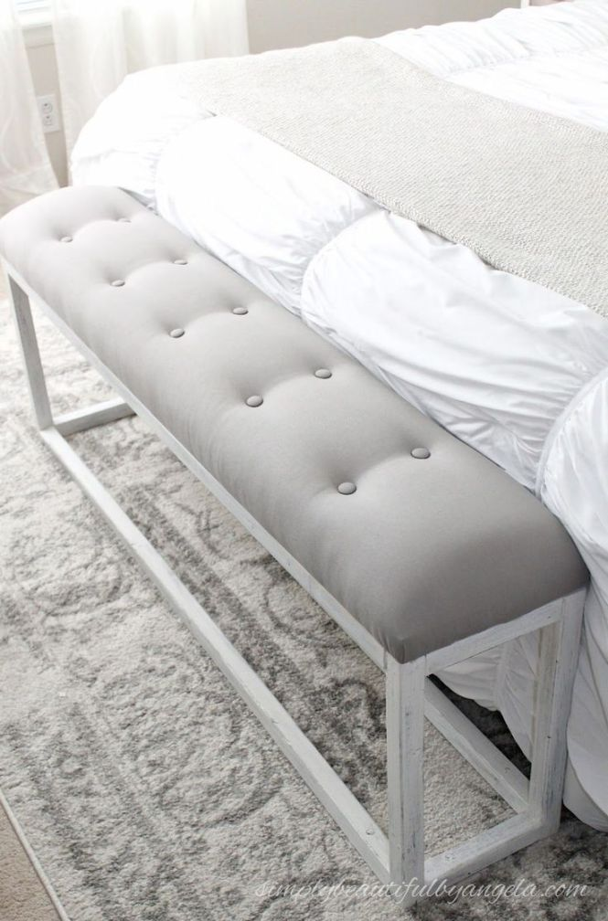Bedroom Bench Diy This Chic Looking Seat Is Made Of Wood And Fabric See