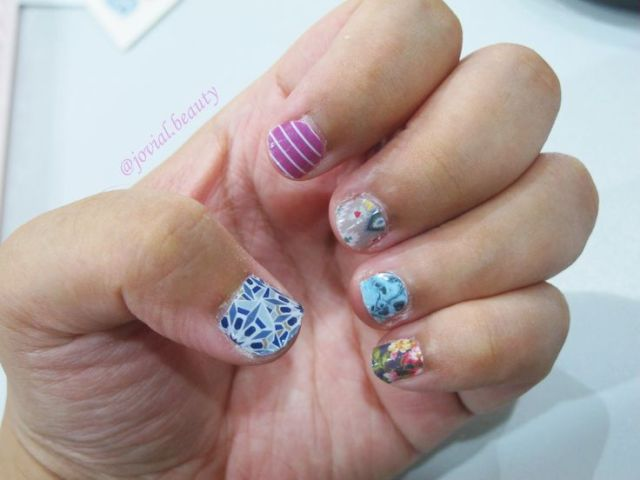 How the jamberry nail stickers look on my nails