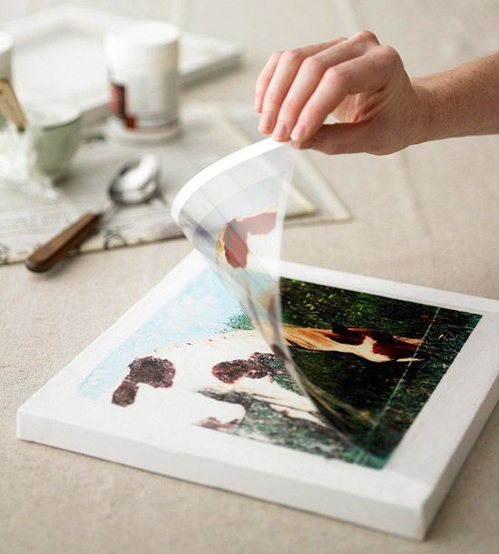 transfer images to canvas,