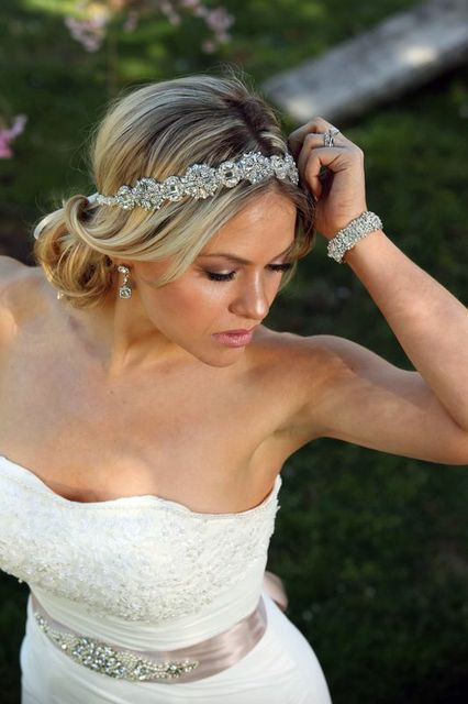 Ready To Ship Ada Wedding Bridal Headpiece Crystal