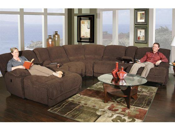 Kanes Furniture Dimples 7 Piece Power Reclining Sectional For The Home Pinterest Colors