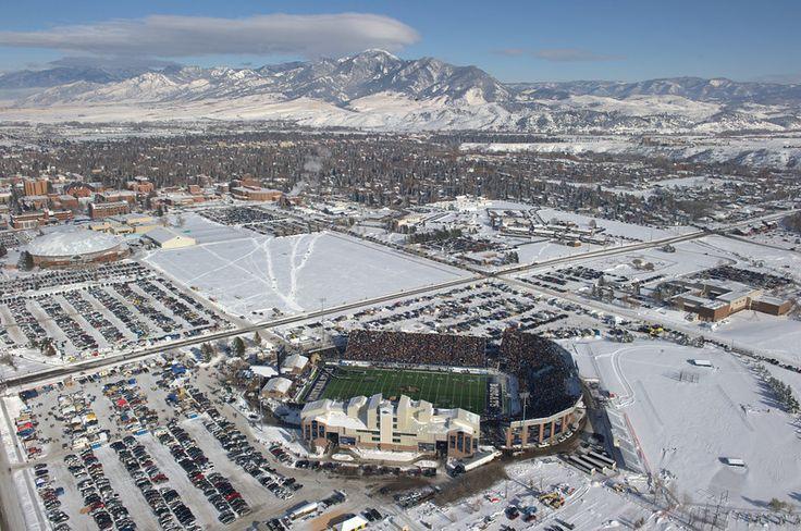 Aerial photo of Montana State University football stadium