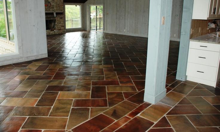 12 X 24 Inch Manganese Saltillo Mexican Tile Manganese