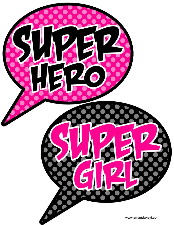 Speech Bubbles from Super Girl Pink Printable Photo Booth