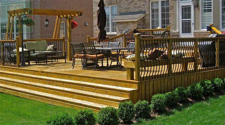Beautiful Full Cedar Deck With A Gorgeous Pergola Really
