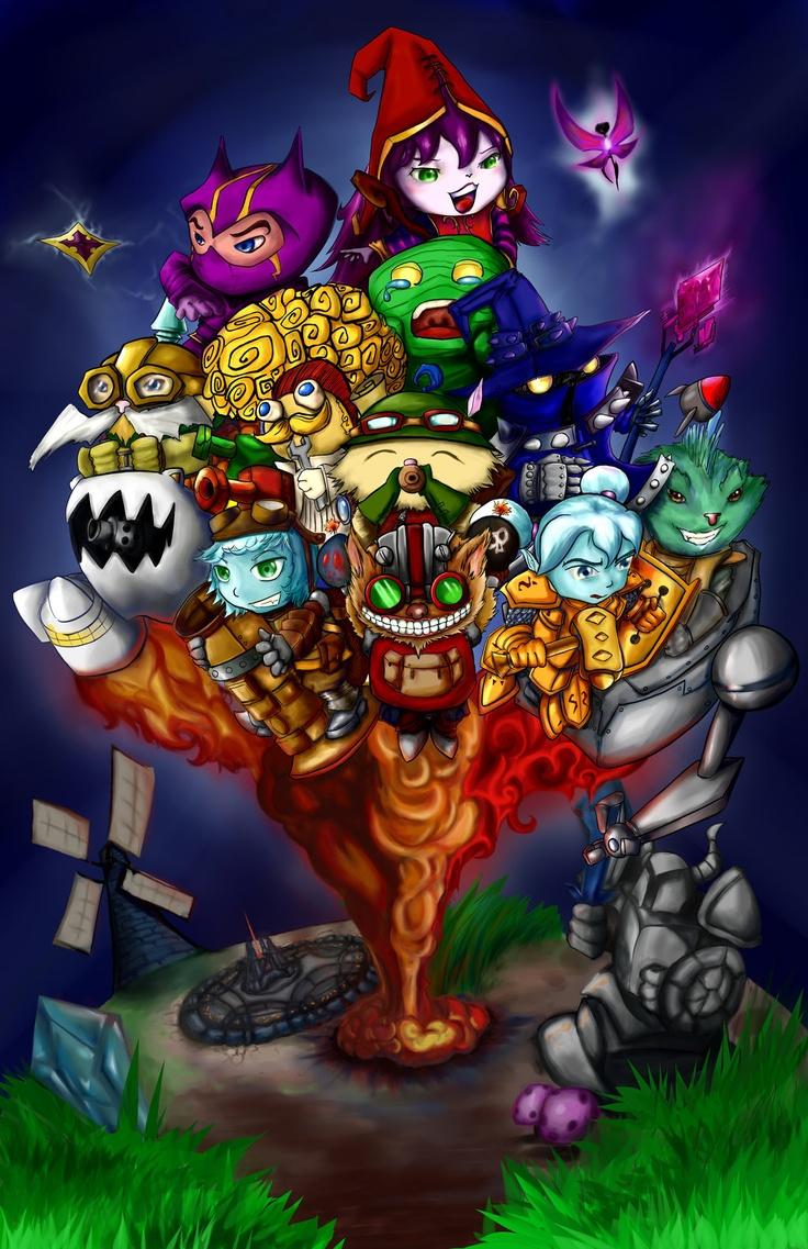 Yordle Kombat ^.^ League of Legends ^.^ Pinterest Art