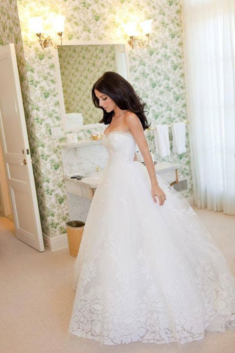 Even though I have no plans on ever getting married again, I just thought that this dress was so beautiful. She looks like a
