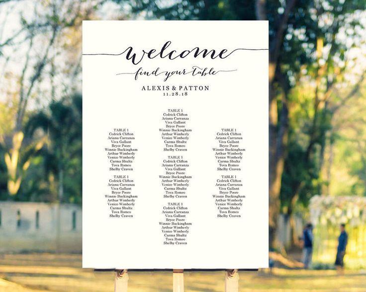 Best 25+ Wedding Seating Plan Template Ideas On Pinterest