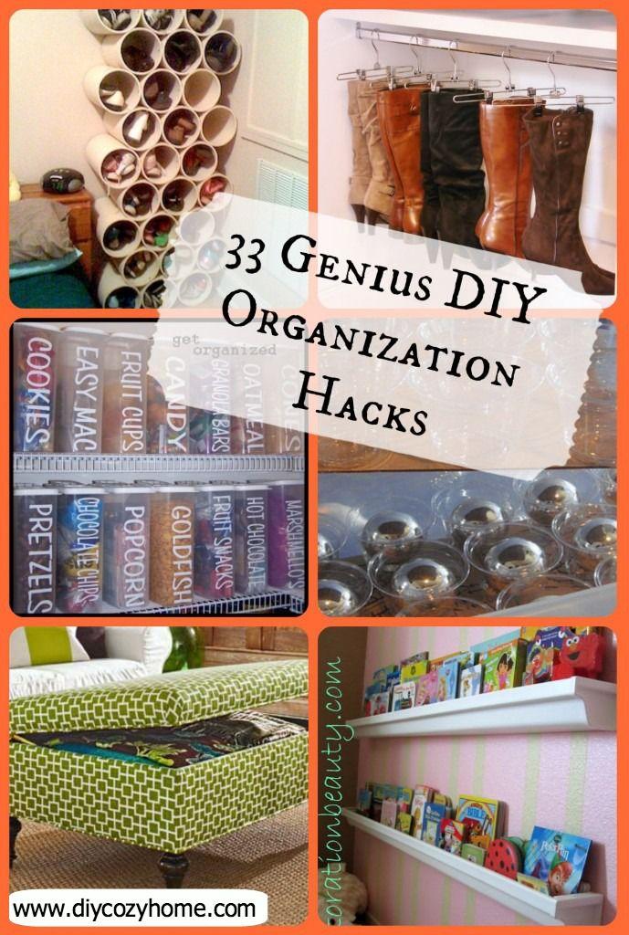 33 Genius DIY Organization HacksLove the idea for cans
