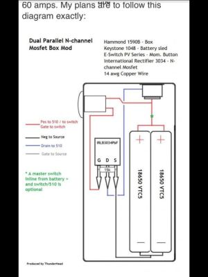 Dual Parallel MOSFET Box Mod Diagram | DIY Box Mod