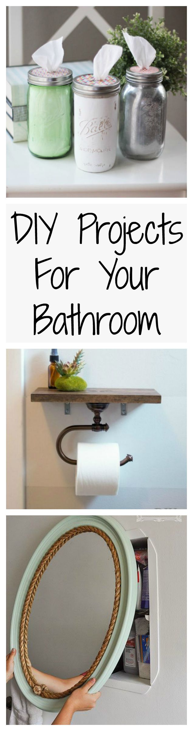 Your bathroom should be just as pretty as all the other rooms in your house, and these easy DIY projects could help make that